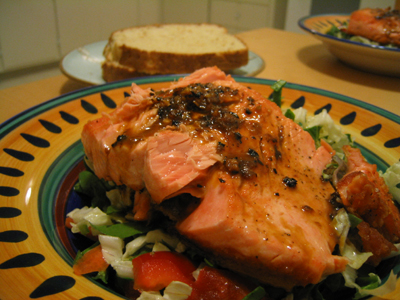salmon with citrus soy glaze