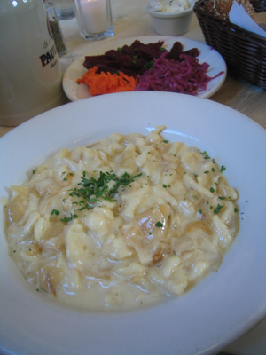 Kaesespaetzel at Suppenkuche