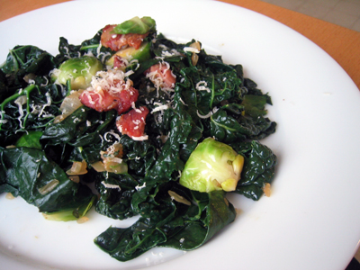 Sprouts, greens, and BACON!