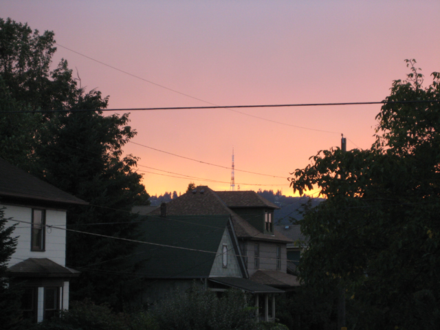 sunset in the West Hills